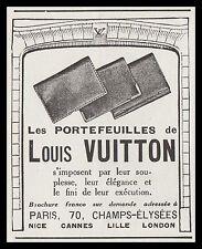 PUBLICITE  LOUIS VUITTON  ART DECO  AD  1925  -12i