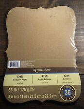 Recollection - Kraft Die Cut Shape - Cardstock Paper - Pack of 36 - Unopened