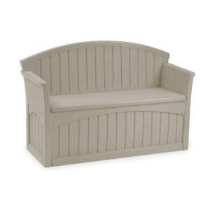 SUNCAST PB6700 Patio Bench,H 34 1/2,W 52 3/4,D 21,Taupe