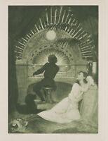 """FIDUS, H. HÖPPENER (1868), """"Frühmesse"""", Jugendstil, Orgel, 1893, Photogravure"""