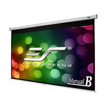 "Elite Screens Manual B, 100"" 16:9, Manual Pull Down Projector Screen 4K / 3D"