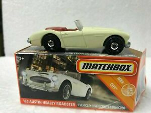 Matchbox 1963 AUSTIN HEALEY ROADSTER Cream Colour Red Upholstery Mint in Box