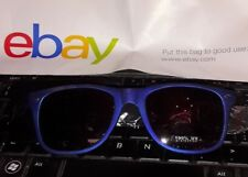Metallic Blue Retro Sunglasses Glasses Hot Topic 100% UV Lenses