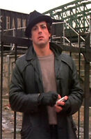 Rocky Balboa Sylvester Stallone Black Leather Jacket Coat