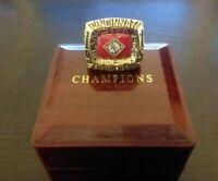 1975 CINCINNATI REDS World Series Championship Ring Pete Rose18k GOLD PLATED USA