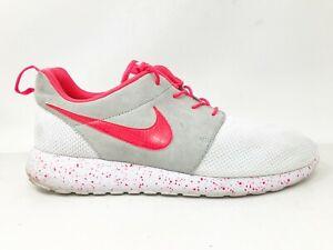 Nike Mens Rosherun Premium ID 649439-991 White Gray Red Running Shoes Size 12.5