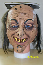 CHILD CREEPY DEMENTED WIZARD LATEX MASK HALLOWEEN SCARY COSTUME TB25413