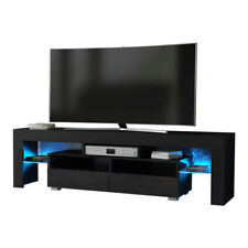 63'' TV Stand Entertainment Center LED Console Wood Modern Cabinet High Gloss
