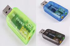 TARJETA DE SONIDO EXTERNA USB 2.0 3D SOUND CARD 5.1 AUDIO VIRTUAL DJ ADAPTADOR