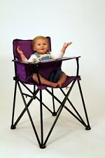 Purple Folding Portable Travel High Chair Camping Chair * video Ciao! Baby