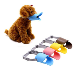 Teddy Dog Muzzle Duck Shape Mouth Guard Protection Cover Antibite Biting Barking