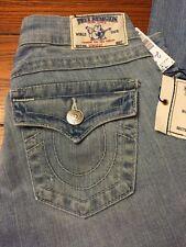 Net Women's True Religion Jeans Straight Sz 25 Drifter Flap Pockets Distress