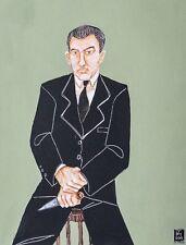 Unique painting by contemporary British artist Joe Machine 'Ronnie Kray' 2015