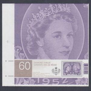 S/S from UNCUT sheet # 2540ai = Pos.5 = Queen elizabeth II  = Canada 2012 MNH