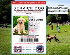 Customized Service Dog Id Card ESA 2020 Emotional Support Animal High Quality
