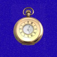Vintage  14k Gold  Zenith 15J Hi-Grade Deco Welsh Half-Hunter Pocket Watch 1910