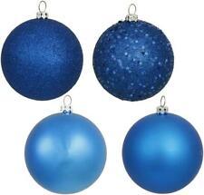 Vickerman 4-Finish Ornament Set, Includes 96 Per Box, 1.6-Inch, Blue~Christmas