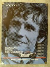 1983 Porsche 956 Jacky Ickx Showroom Advertising Poster RARE!! Awesome L@@K