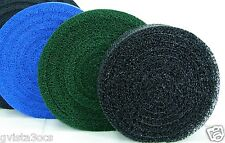 "Matala 3-Pack Blue/Green/Gray round filter mats-24"" diameter rolls-pond media"