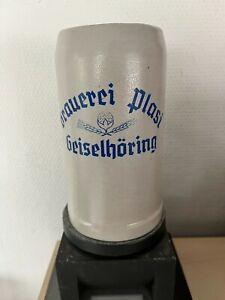 Sehr alter Bierkrug, Masskrug, Brauerei Plasi, Geiselhöring, ca. 1930