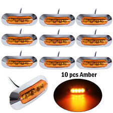 10x Amber 4 LED Side Clearance Marker Light for Car Truck Trailer Pickup 12V 24V