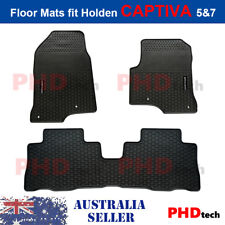Premium Quality All Weather Rubber Car Floor Mats for Holden CAPTIVA5 & 7