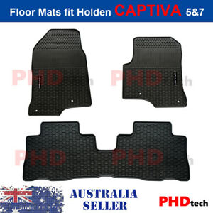 Premium Quality All Weather Rubber Car Floor Mats for Holden CAPTIVA 5 & 7