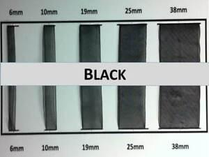 Quality Black Colour Organza Ribbon 6, 10, 19 ,25, 38mm Width, Various Lengths