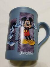 Disneyland Mickey Mouse Coffee Mug Retro Classic Collage Slate Blue