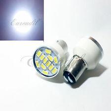 1157 White Samsung Chip 12 SMD LED 2x Bulb #D4 Parking Tail Stop Brake Light