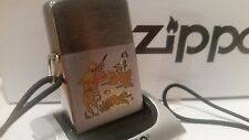 Vintage 1950-1957 Zippo Lighter Hunter & Dog with Lanyard Rare Collectible