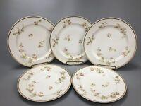 Set of 5 Vintage Haviland & Co Limoges France Pink Rose Dinner & Lunch Plates AA
