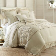 Beautiful 8-piece Comforter Set Luxurious Modern Shabby Chic Pin Tuck Bedding