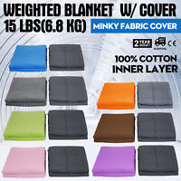 6.8KG Premium Weighted Blanket Deep Sleep with Cover for Kid/Adult Gravity Heavy