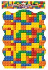 Buliding Bricks Pullstring Pinata - Toy Loot/Party Bag Filler Kids Birthday Lego