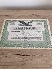 Poliseno Food Inc 300 Shares Specimen Cert Invalid Certificate