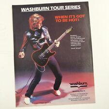retro magazine advert 1984 WASHBURN TOUR SERIES