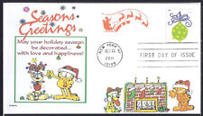 GARFIELD  ODIE  CHRISTMAS  SEASONS GREETINGS   SANTA    FDC- DWc CACHET