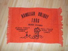 Hawaiian Holiday 1986 Roxy Ann Lanes Reedsport Medford Oregon Bowling Towel USA