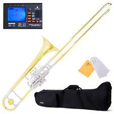 """Mendini """"Super-Bone"""" Bb Valve / Slide Trombone w/ Monel Pistons +$39Tuner"""