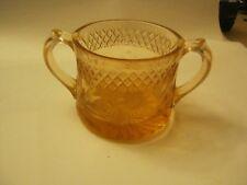 "Pink Depression Glass Sugar Bowl, 3 1/2"" tall, 4"" opening. (MW-6)"