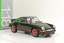 1973 Porsche 911 Carrera RS 2.7 negro/rayas rojas 1:18 Welly