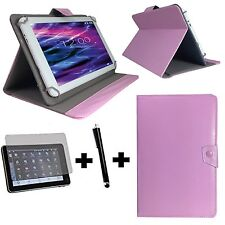 10.1 zoll Tablet Tasche + Folie + Stift - Samsung Galaxy Tab 2 P5100 - 3in1 Rosa