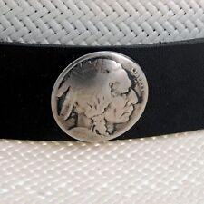 Western Leather Indian Head Nickel Hatband