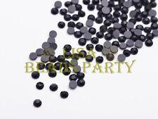 500pcs Ss10 3mm 10 Facets DMC Hotfix Iron on Rhinestones Crystal Black