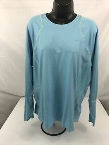 Nike Fit Dry L/S XL Top Women's Mid Weight Basel Layer Long Underwear light blue