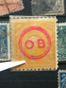 U.S. PHILIPPINES 20c Possession Stamp O.B .Encircled Official Stamp