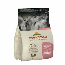 More details for almo nature puppy food holistic small with chicken and rice 2x2kg bbe feb-22