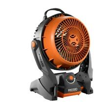 RIDGID 18-Volt Hybrid Fan Lithium Ion Battery Powered Job Site Power Tool Only