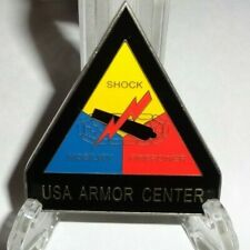 Vintage Usa Armor Center Challenge Coin Army 2 Star General Nice Condition !